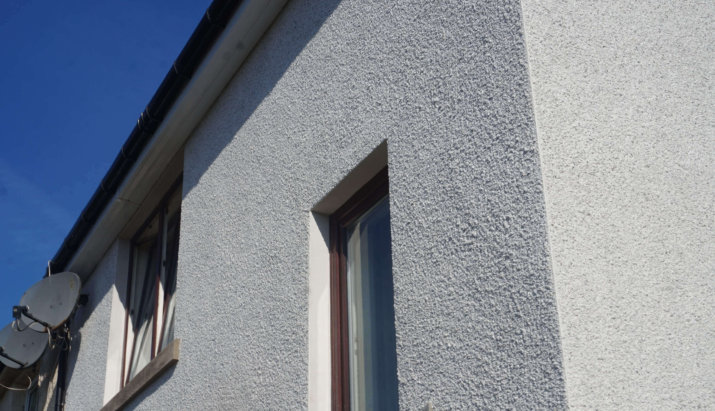 Roughcast and Pebbledash Example