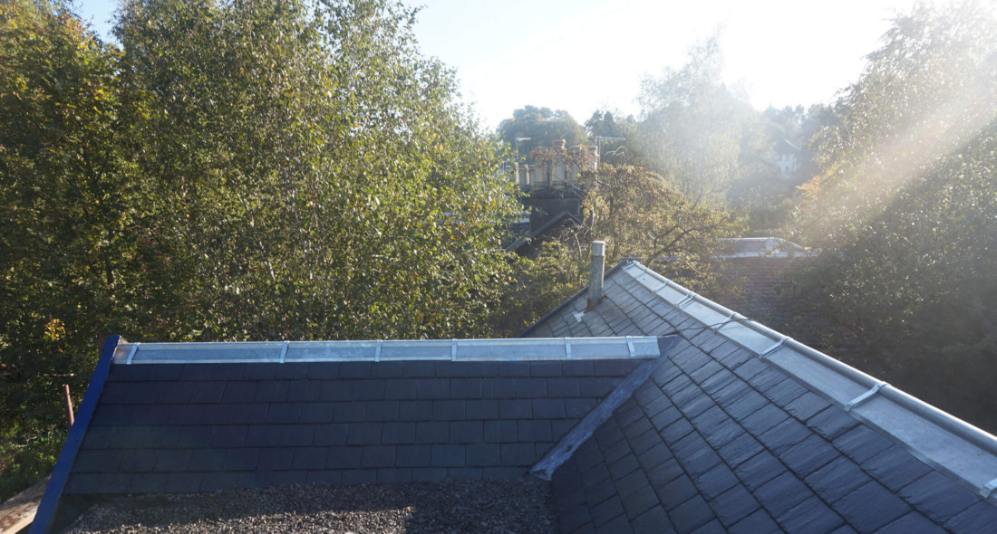 After new slate roof bearsden